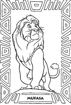 Lion King Coloring Pages Lion King Simba coloring page Art 3
