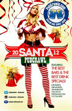 Chicago Santa PubCrawl - Santa Bay Crawl Chicago - 888-998-6609