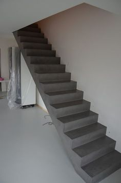 This is also true for that basement stairs. Stone Stairs, Concrete Stairs, Exposed Concrete, Entryway Stairs, Basement Stairs, House Stairs, Structural Drawing, Escalier Design, Basement Floor Plans