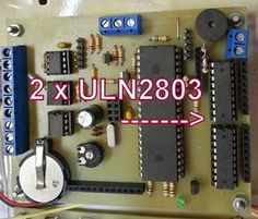 Picture of Connecting relays to a project using ULN2803