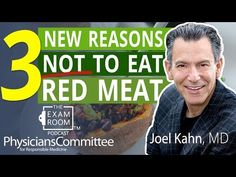 Dozens of studies have shown that eating red meat increases the risk of multiple forms of cancer and heart disease, among other conditions. Now, Joel Kahn, M. Heart Disease, Medicine, Cancer, Weight Loss, Meat, Youtube, Cardiovascular Disease, Losing Weight, Medical