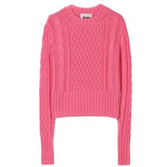 Acne Lia Cable Knit Pullover ($353) ❤ liked on Polyvore