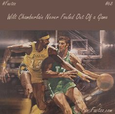Wilt Chamberlain Never Fouled Out of a game while playing. It's the record by any player of basketball. Chamberlain played fourteen seasons and 1,045 regular seasons games, 160 play-off & 55,418 total minutes. He was never once disqualified from a game.  #facts #funfacts #randomfacts #factoftheday #fun #random #day