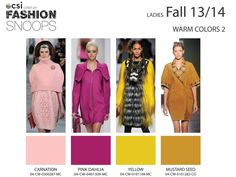 Warm Colors 2 CSI Solutions / Fashion Snoops: colors autumn/winter 2013-2014 - KNITWEAR                                    Highlights & Trends