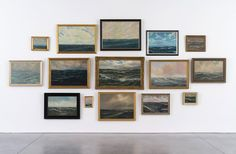 Hans-Peter Feldmann Sea Paintings 15 oil paintings on linen, framed 108 x 232 inches HPF 403