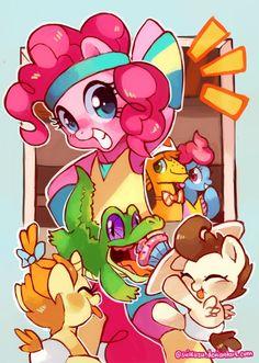 Pinkie Pie and friends