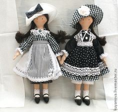 lovely cloth dolls, would be easy to make