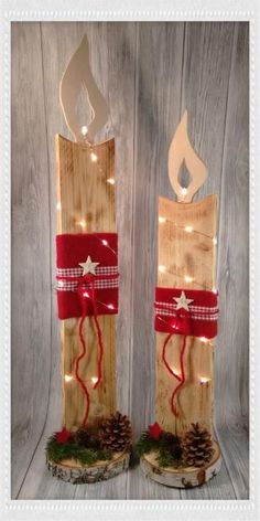 Fabric Crafts All sorts of creative things made of wood, fabric, decoupage, paper, pearls and v … Christmas Wood Crafts, Indoor Christmas Decorations, Pallet Christmas, Christmas Yard, Christmas Makes, Christmas Projects, Holiday Crafts, Wooden Snowman Crafts, Christmas Fairy Lights
