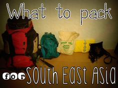 what to bring on a trip to South East Asia