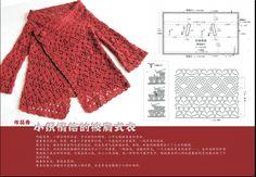 crochelinhasagulhas: Casaco vermelho de crochê