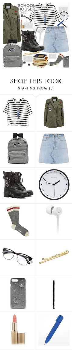 """""""Work Hard, Play Hard"""" by cassiecronk ❤ liked on Polyvore featuring Velvet by Graham & Spencer, Vans, RE/DONE, RED Valentino, Diamantini & Domeniconi, Beats by Dr. Dre, CHARLES & KEITH, NYX, L'Oréal Paris and Astley Clarke"""