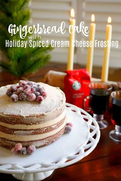 This #gingerbread cake with holiday spiced cream cheese frosting recipe will instantly put you in the holiday spirit! #SavorHolidayFlavors [ad]