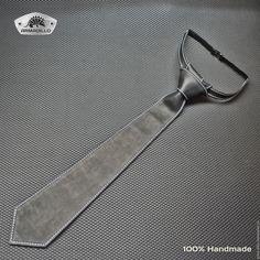 Купить Кожаный галстук - черный, галстук, кожаный, кожа натуральная