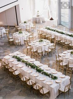 Greenery and candles for table decor
