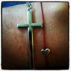Sideways cross braclet/armband
