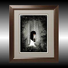 Girl Art Dark Fantasy Digital Painting Art Print    by RusticGoth