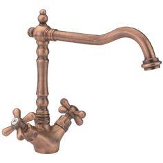 Tre Mercati - French Classic Mono Sink Mixer - Old Copper - 195