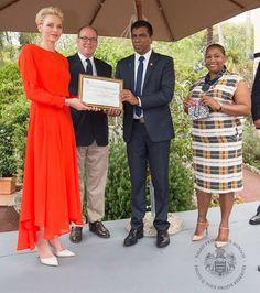 Prince Albert and Princess Charlene receives SARCS delegation                                                                                                                                                     More