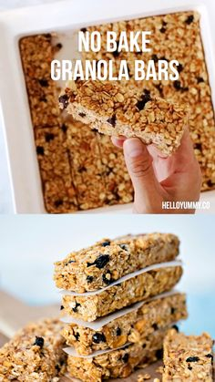 Find out how easy it is to make these one bowl banana blueberry granola bars. Delicious breakfast or snack for kids! Find out how easy it is to make these one bowl banana blueberry granola bars. Delicious breakfast or snack for kids! Healthy Sweets, Healthy Baking, Healthy Baked Snacks, Healthy Snack Bars, Healthy Food, Healthy Energy Bites, Healthy Breakfast Cookies, Simple Healthy Snacks, Healthy Gluten Free Snacks