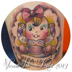 https://www.facebook.com/VorssaInk, http://tattoosbykata.blogspot.fi, #tattoo #tatuointi #katapuupponen #vorssaink #forssa #finland #traditionaltattoo #kewpie