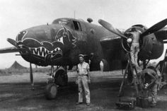 The nickname for this 71st Squadron, 38th Bomb Group B-25 is probably Hot Nuts.