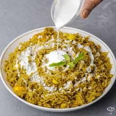 """FoodRush on Instagram: """"Give a twist to authentic palak paneer curry into a complete meal with this nutritious Palak Paneer Pulao!  Ingredients:  1 cup Rice 150 gm…"""""""