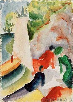 August Macke - Picknick am Strand