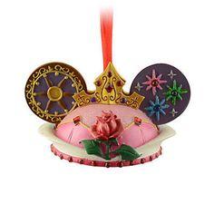 disney christmas sleeping beauty princess aurora ear hat ornament new with tag