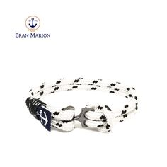 Tatev Nautical Bracelet by Bran Marion Nautical Bracelet, Nautical Jewelry, Marine Rope, Azul Real, Sailors, Handmade Bracelets, Color Combinations, Jewelry Collection, Royal Blue