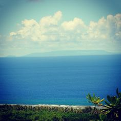 The island Rota is in the far distance... it was such a clear day that you could see the island from far away!