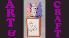 How to make a pop up Christmas card. This idea is suitable for anyone who works with children. The video takes you step by step through the process and gives you some hints and tips on how to use this method to make cards with different designs. #art #christmascards