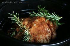 Fauxtisserie Chicken - make the rotisserie chicken in your crockpot.  Loving this idea!