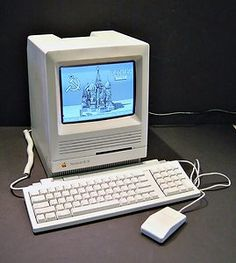 Apple Macintosh SE/30 Computer. My parents bought me this computer for journalism school at Mizzou, approximately 1985-1986. I used Quark Xpress for desktop editing.