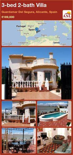 3-bed 2-bath Villa in Guardamar Del Segura, Alicante, Spain ►€189,000 #PropertyForSaleInSpain