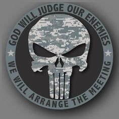 Punisher Camo Military Die Cut Decal