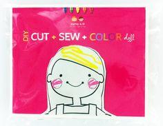 Great Idea: Cut + Sew + Color Dolls