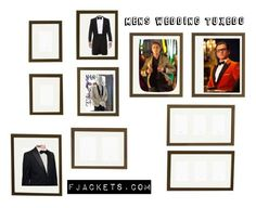 """""""Mens Wedding Tuxedo"""" by fjackets ❤ liked on Polyvore featuring Pottery Barn, jared, men's fashion and menswear"""
