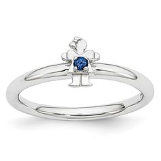 Sterling Silver Affordable Expressions Rhodium Cr. Sapp Girl Ring