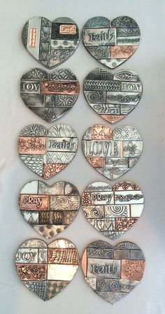 Students creations made @ The Pewter Room www.thepewterroom.co.za Metal Embossing, Tooling.  Love this!