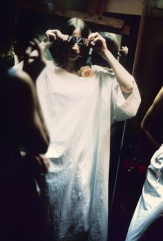 Backstage at Maison Martin Margiela by Marina Faust, 1994
