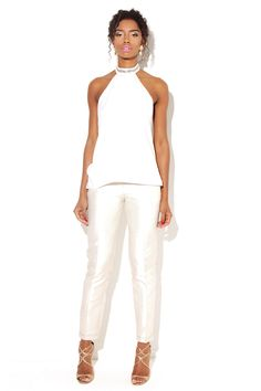 2d3ecdaf61b Swan Ivory Top - VLabel London All White Party Outfits