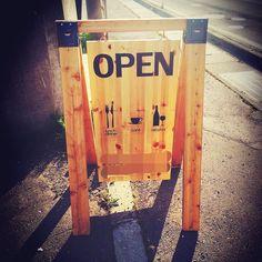 Diy Signs, Shop Signs, Store Signage, Welcome Boards, Pallet, Sign Board Design, Mobile Shop, Salon Design, Store Design
