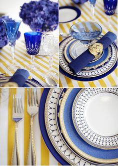The 'Rhapsody in Blues' collection by Marcy Blum for NewlyWish Registry Re-Patterned  #wedding #registry #style