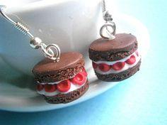 food jewelry/Macaron earrings/Miniature food earrings/ Polymer clay food/