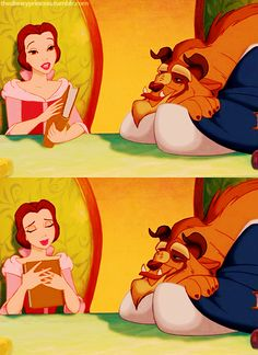 I wish a girl like Belle would read to me.