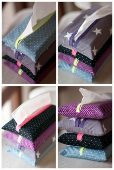 My French is lousy but, let me guess, it's a kleenex holder! Pochette à… Diy Couture, Couture Sewing, Couture Fashion, Diy Fashion, Sewing Tutorials, Sewing Projects, Sewing Diy, Sewing Hacks, Creation Couture