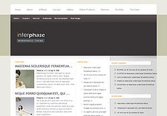 """InterPhase is a beautiful, clean design that maintains a """"cutting edge"""" feel without loosing its sense of professionalism. This theme comes with a large array of custom options pages that let you customize everything from the font color to the 125x125 banner image in the sidebar."""