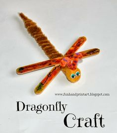 Popsicle Craft Stick Dragonfly