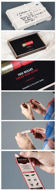 A bullet as a hard invite.