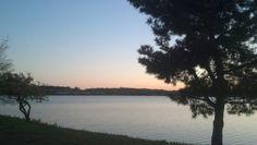 Sundown at Lake Quannapowitt in Wakefield,  Massachusetts